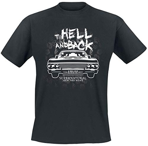 Supernatural to Hell and Back T-Shirt Manches Courtes Noir