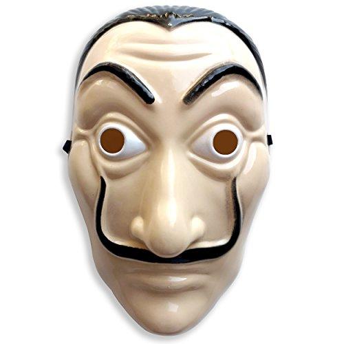 Matin & Soir Masque de Dali Rigide de la CASA de Papel, idéal pour Déguisement CASA de Papel pour Visage et Face