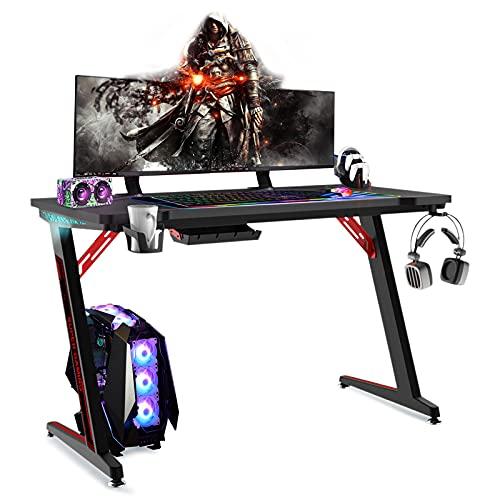 Bureau gaming lumineux RGB 120x60cm Nomai