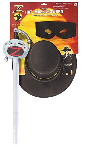 Kit d'accessoires pour déguisement Zorro