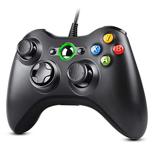 Zexrow Manette filaire Xbox 360, USB Manette du Contrôleur de Jeu Filaire avec Double Vibration pour PC Xbox 360 Windows Nomai