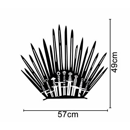 Game Of Thrones Toilette Personnalité Drôle Décoration Stickers Muraux Stickers Noir 4ws-0016