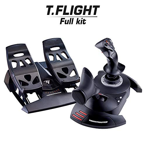 Thrustmaster pack joystick T.Flight Hotas X + palonnier TFRP- T.Flight Rudder Pedals compatible PC Nomai