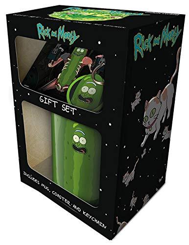 Coffret avec mug et sous-verre Rick et Morty