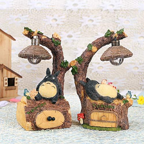 2pcs Micro paysage décoration résine Mon voisin Totoro petite nuit lumière veilleuse