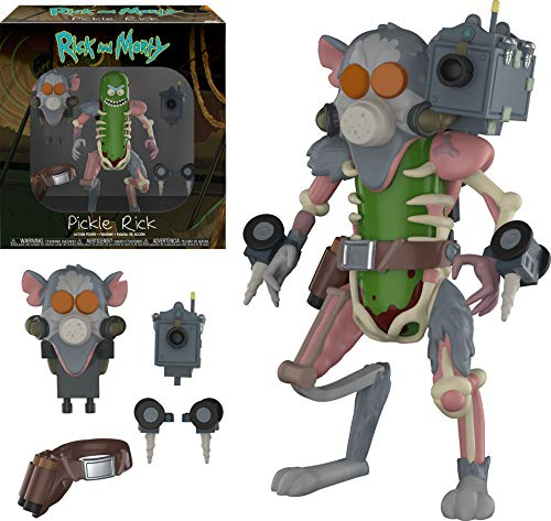 Funko- Action Figure: Rick & Morty: Pickle Rick Collectible, 29783, Multicolour