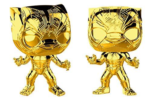 Funko- Pop Bobble Marvel Studios 10: Black Panther (Chrome) Collectible Figure, 33520, Multcolour