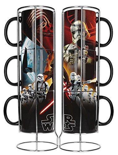 SD Toys Star Wars Set de Tasses, céramique, Noir, 12cm