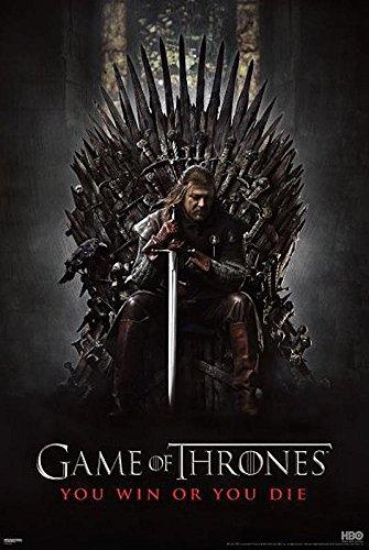 Poster Game Of Thrones Sean Bean (61cm x 91,5cm) + un poster Bora Bora en cadeau!