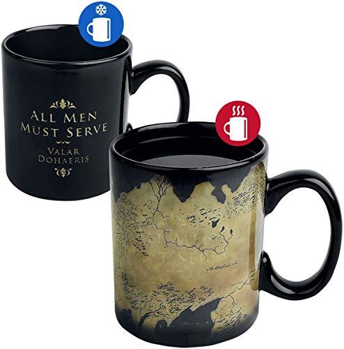 Mug effet thermique Game of Thrones - Carte Westeros