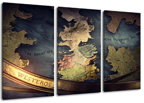 Game of Thrones image, 3 pièces sur toile (taille totale: 120x80 cm), art de haute qualité d'impression comme une fresque. Moins cher qu'une peinture à l'huile! ATTENTION NO affiche!