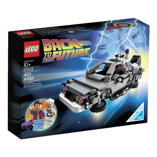Jeu de construction Lego Retour vers le futur machine à remonter le temps Dolorean