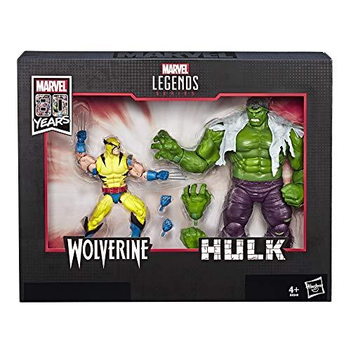 Figurines Marvel Legends 80ème anniversaire personnages Wolverine et Hulk