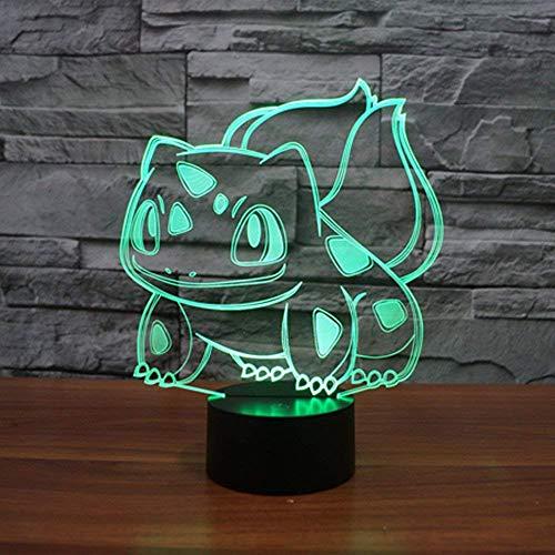Lampe veilleuse 3D Pokémon personnage Bulbizarre