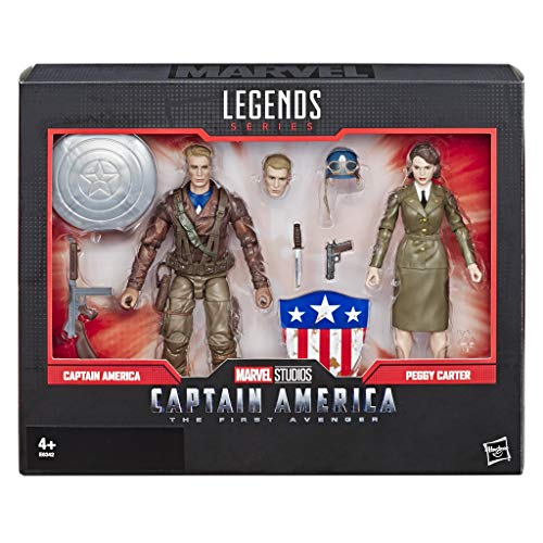 Figurines édition collector Marvel Legends Captain America et Peggy Carter