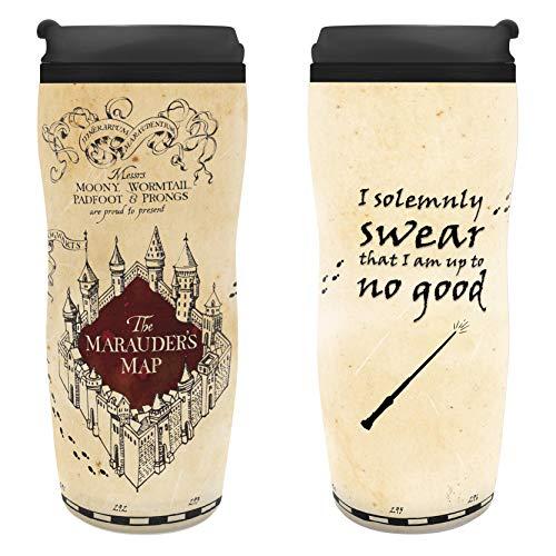 ABYstyle - Harry Potter - Mug de Voyage Isotherme Carte du Maraudeur - version allemande