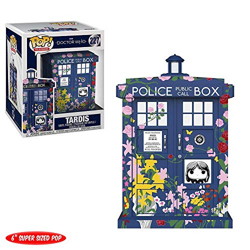 Funko- Figurines Pop Vinyl: Doctor Who: 6' Tardis (Clara Memorial) Collectible Figure, 33284, Multcolour