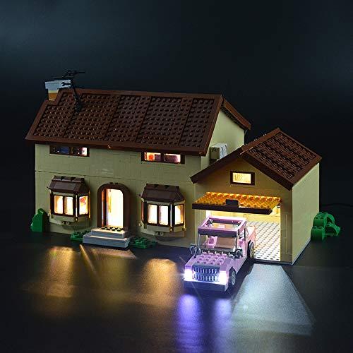 LIGHTAILING Jeu De Lumières pour (La Maison des Simpsons) Modèle en Blocs De Construction - Kit De Lumière A LED Compatible avec Lego 71006(Ne Figurant Pas sur Le Modèle)