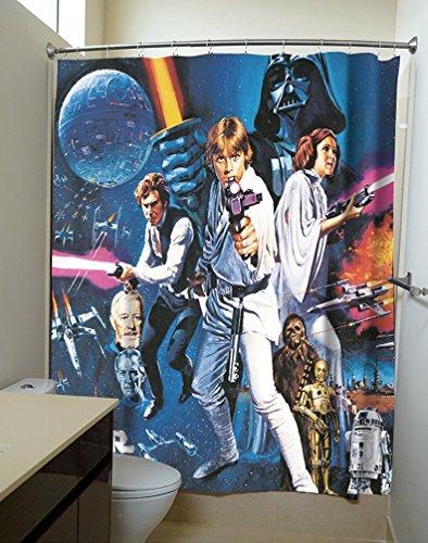 Rideau de douche Star Wars affiche du film
