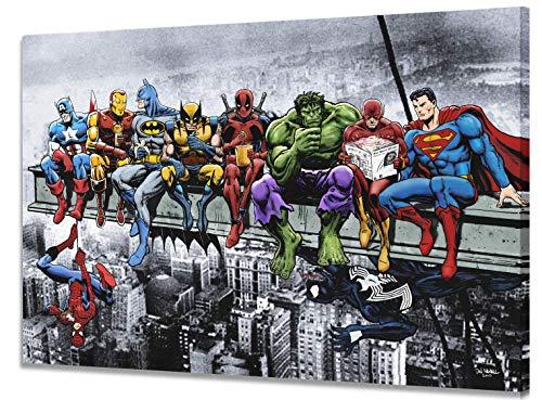 Toile Marvel & DC Superhéros