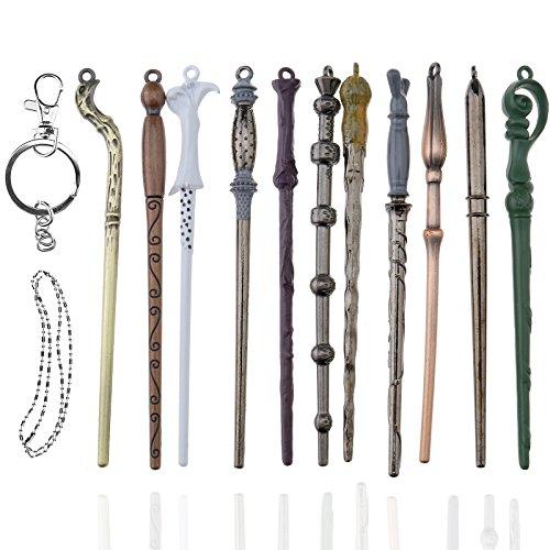 Creative-Idea 11pcs Baguette Magique pour Harry Potter Hermione Dumbledore Sirius Voldemort Fleur Recueillir Cosplay