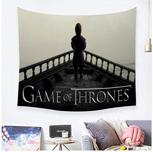 ZKPGUA Tapisseries Game of Thrones Drapeau Art Tapisseries en Plein Air Tenture Tissu Drap Pique-Nique Décor À La Maison Cadeau C (150X230Cm)