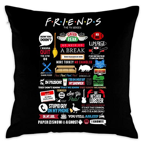8888CASE Friends TV Series Decorative Throw Pillow Covers Case Pillowcases Taies d'oreillers (50cmx50cm)