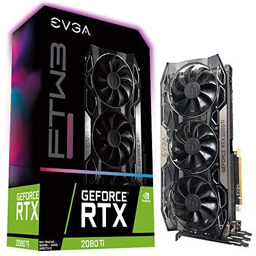 EVGA GeForce RTX 2080 Ti FTW3 Ultra Gaming, 11GB GDDR6, iCX2 Technology, RGB LED, Backplate en Métal, Carte Graphique 11G-P4-2487-KR