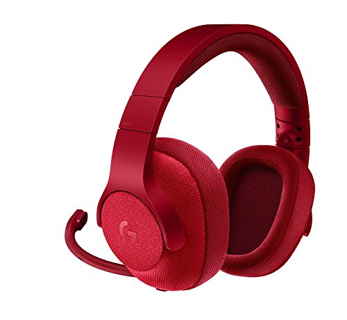 Logitech G433, Casque Gaming Filaire, son Surround 7.1, pour  Nintendo Switch, Xbox One, PS4, Switch, PC & Mobile (Rouge)