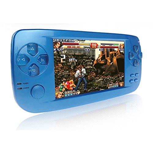 Consoles de Jeux Portables, 3000 Jeux Rétro Jeu Vidéo Portable 4,3 Pouces 16 Go Consoles avec Caméra (Bleu)