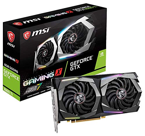 MSI GeForce GTX 1660 Ti Gaming X 6G 6 Go GDDR6 - Cartes Graphiques (GeForce GTX 1660 Ti, 6 Go, GDDR6, 192 bit, 7680 x 4320 Pixels, PCI Express x16 3.0) Nomai