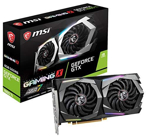 MSI GeForce GTX 1660 Ti Gaming X 6G 6 Go GDDR6 - Cartes Graphiques (GeForce GTX 1660 Ti, 6 Go, GDDR6, 192 bit, 7680 x 4320 Pixels, PCI Express x16 3.0)