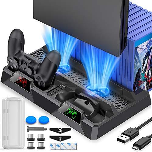Beboncool : Dock PS4 chargeur avec ventilateur de refroidissement gameover.fr