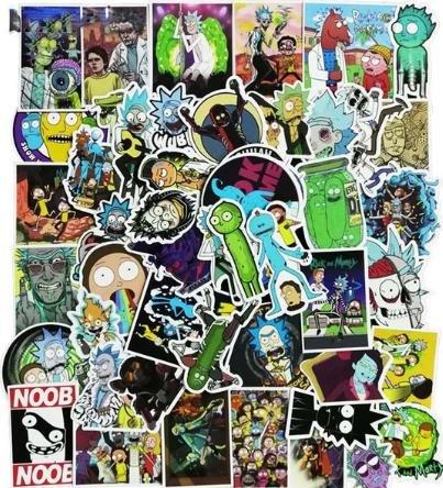 Pack de 50 autocollants Rick & Morty