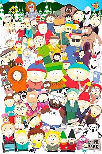 Up Close Poster South Park - Personnages (61cm x 91,5cm) + Un Poster Surprise en Cadeau!