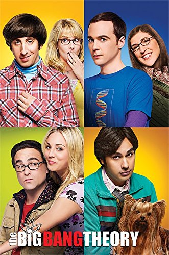 Maxi affiche personnages The Big Bang Theory