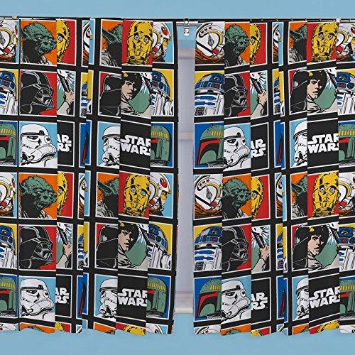 Parure de rideaux plissés Star Wars