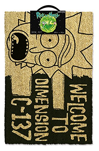 Rick & Morty Paillasson, Multicolore, 80 x 150 cm