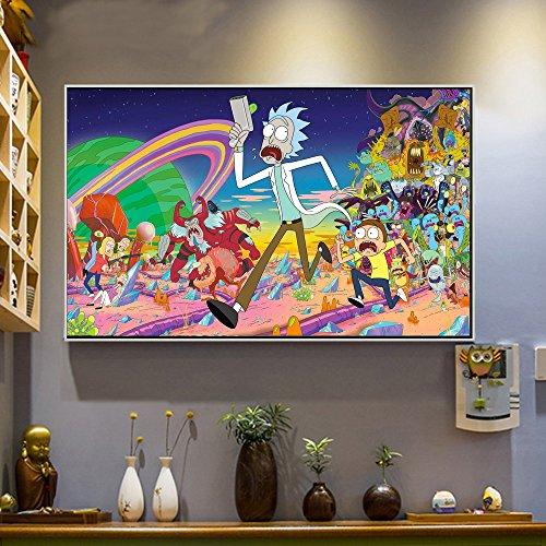 Affiche peinture à la bombe Rick & Morty